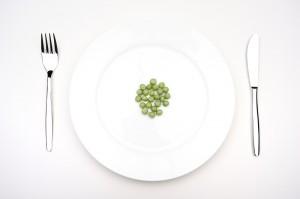 Горох на тарелке!