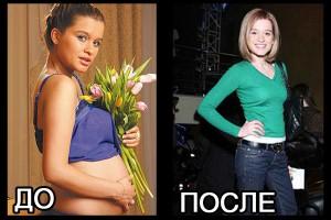 Ксения Бородина: до и после похудения